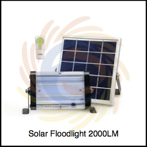 Solar Floodlight 2000 LM available at SolarBrunei.com